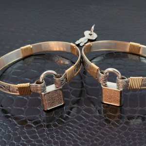 soft and sweet cuffs with gold 2