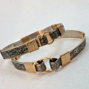 soft and sweet cuffs with gold 3