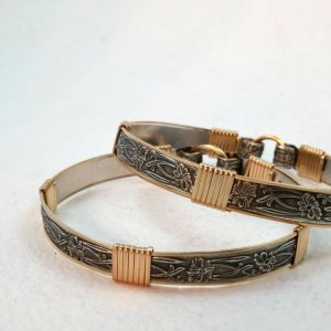 soft and sweet cuffs with gold 5