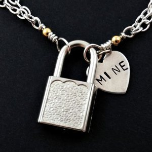 mine heart tag